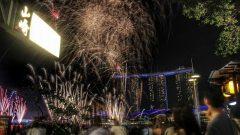 マリーナベイ・サンズと花火(シンガポール賃貸のMikanのシンガポール日記)